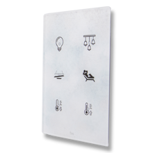 Picture of Cubik-V6 white Design push-button 6 areas - Temp and humidity sensor