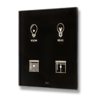 Picture of Cubik-SQ4 black Design push-button 4 areas - Temp and humidity sensor