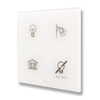 Picture of Cubik-SQ4 white Design push-button 4 areas - Temp and humidity sensor