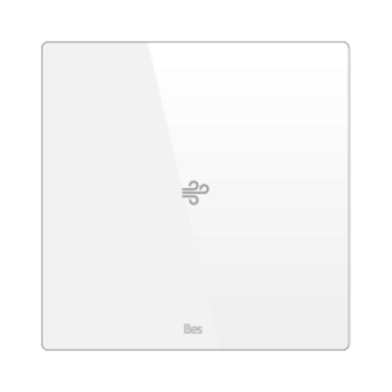 Picture of Square thermostat - Temperature and humidity sensor - Basic white