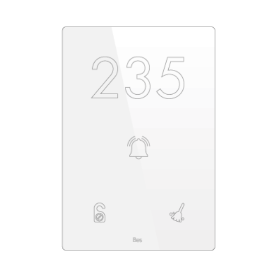 Picture of Vertical touch panel - Hotel door - DND/MUR - Design white