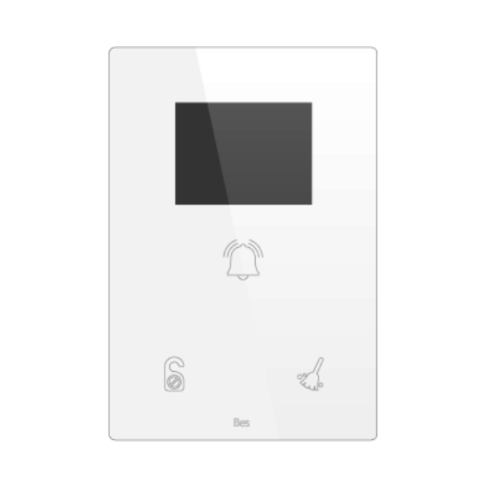 Picture of Vertical touch panel - Hotel door - DND/MUR - Integ. display - Basic white