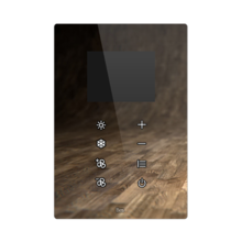 """Picture of Vertical touch panel thermostat - 2.8"""" Integrated screen - Design white"""