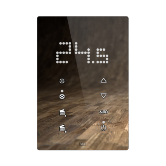 Picture of Vertical touch panel thermostat - Integrated LED indicator - Capriccio white