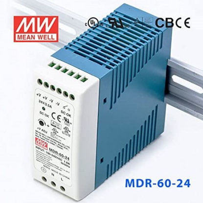 Picture of MEAN WELL 24Vdc 2.5A Power Supply (DIN-Rail)